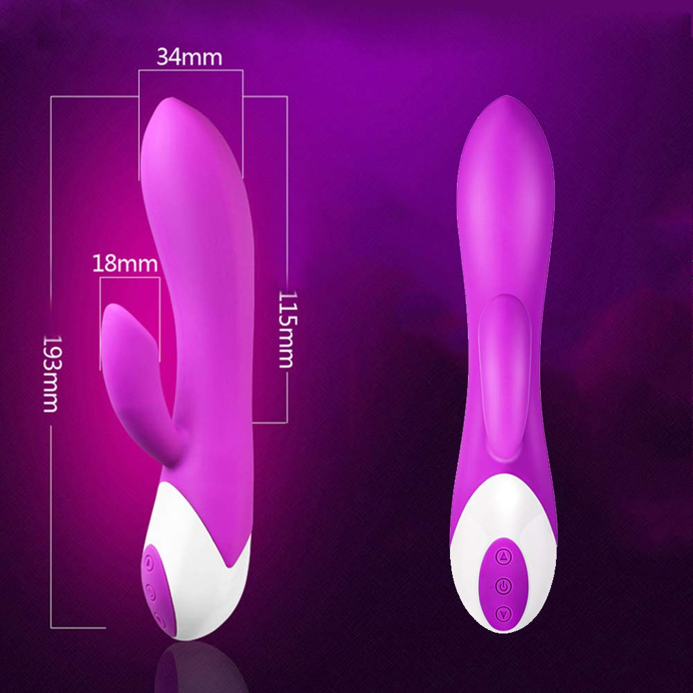 Xiaoxx Vibradores para Mujer Clítoris Modo Punto G Modo Clítoris De Vibración Modo De La Vibración del Dual-Motor 10-Frequency,Pink c75556