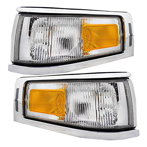 Driver and Passenger Signal Side Marker Lights Lamps Replacement for Lincoln F5VY15A201B F5VY15A201A AutoAndArt
