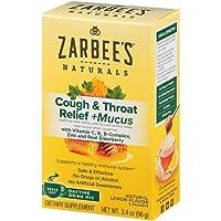 Zarbee's Naturals Cough & Throat Relief + Mucus Daytime Drink Mix with Dark Honey...