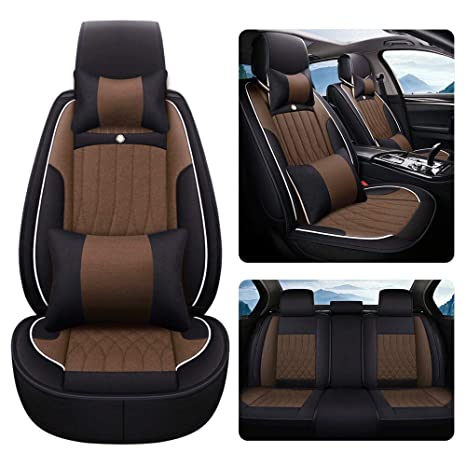 DEFTEN 2pcs Jaguar Logo Black Leather Car Seat Safety Belt Strap Covers Shoulder Pad Accessories Fit for Jaguar F-Pace F-Type XF XJ XE XK