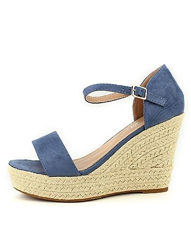 6e029cf2766e5a Cendriyon, Compensée Bleu Ciel Sixth Sens Mode Chaussures Femme Taille 41