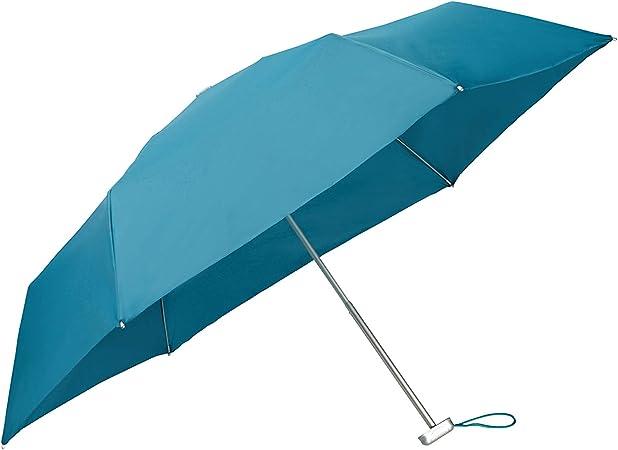 Coral Blue 23 cm 3 Section Manual Mini Flat Regenschirm SAMSONITE Alu Drop S