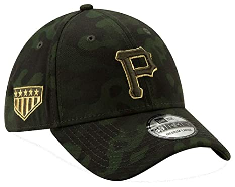 pretty nice 0813b eaca0 New Era 2019 MLB Pittsburgh Pirates Hat Cap Armed Forces Day 39Thirty 3930  (S