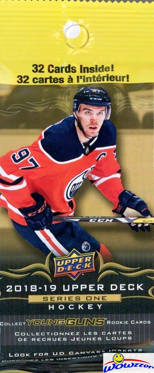 f50b5859b98 2018/19 Upper Deck Series 1 NHL Hockey HUGE Factory Sealed Jumbo FAT PACK  with 32 Cards! Look for Young Gun Rookie Cards of Elias Pettersson, Rasmus  Dahli, ...