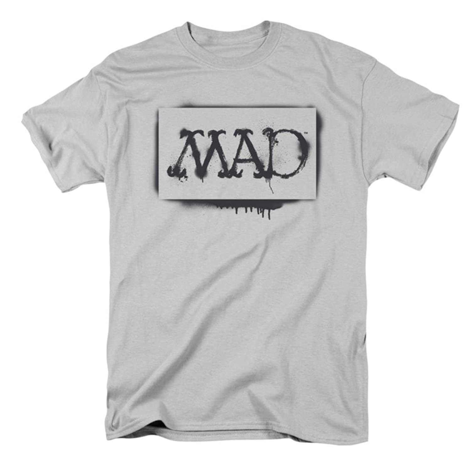 Mad - Mens Stencil T-Shirt In Silver