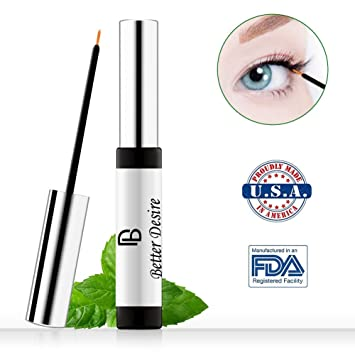 33b9de9cd80 Amazon.com: Better Desire Eyelash Growth Serum to Grow Longer Fuller  Thicker Lashes And Brows Natural Eyelash Boost Enhancer Promote Rapid Growth  of Eyelash ...