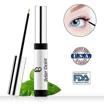 2c59fdb061a Amazon.com: Better Desire Eyelash Growth Serum to Grow Longer Fuller  Thicker Lashes And Brows Natural Eyelash Boost Enhancer Promote Rapid Growth  of Eyelash ...