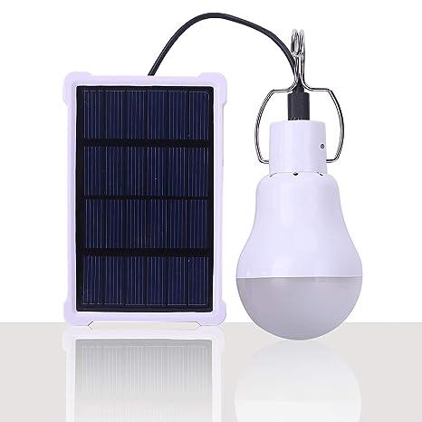 4//8X Solar Glühbirne Solarlampe LED Solarleuchte Außenbeleuchtung Camping Lampe
