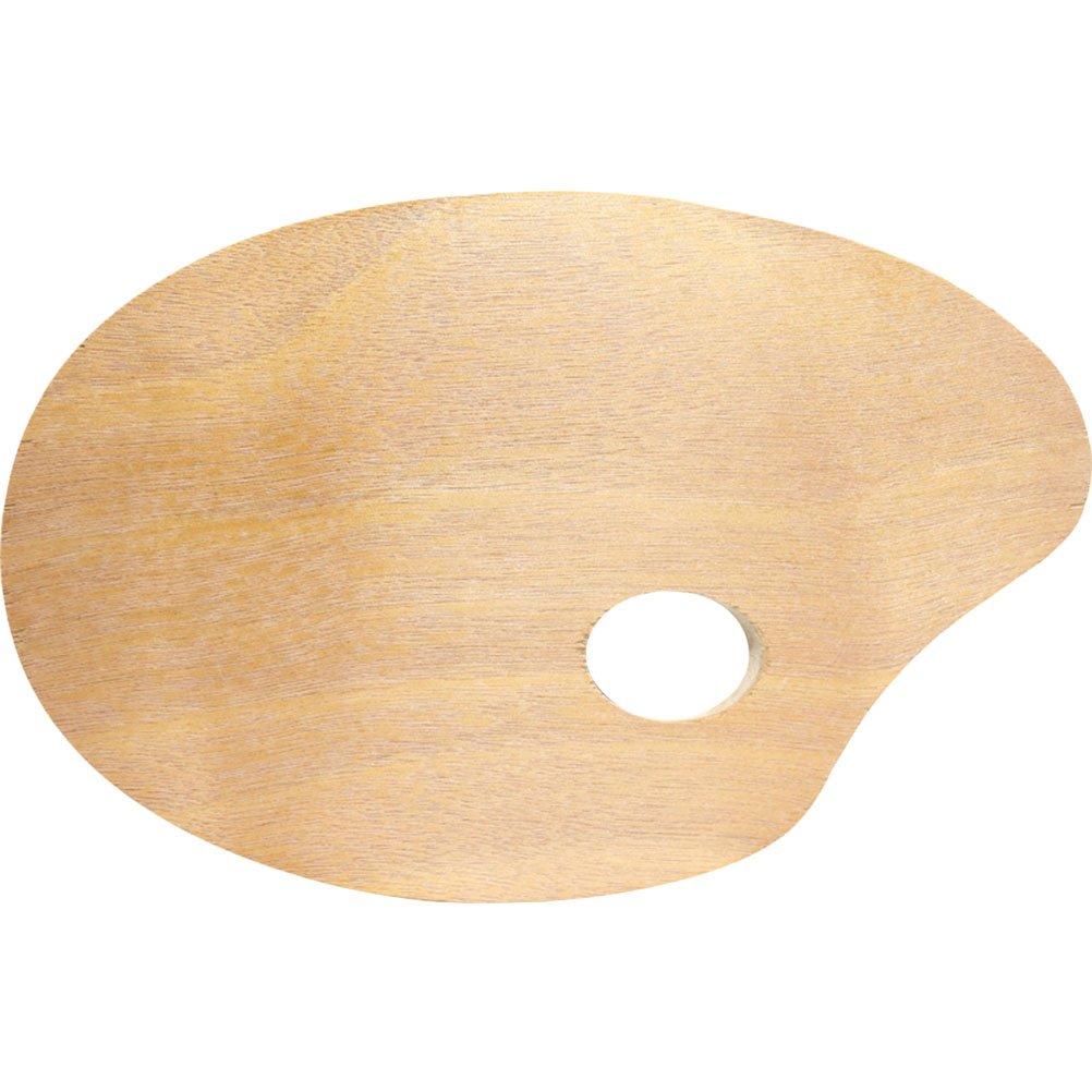 ULTNICE Holz /Ölgem/älde Palette Oval Aquarell Zeichnung Kunst Palette 25x30cm