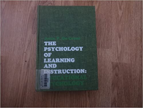 the psychology of learning  John p. De Cecco