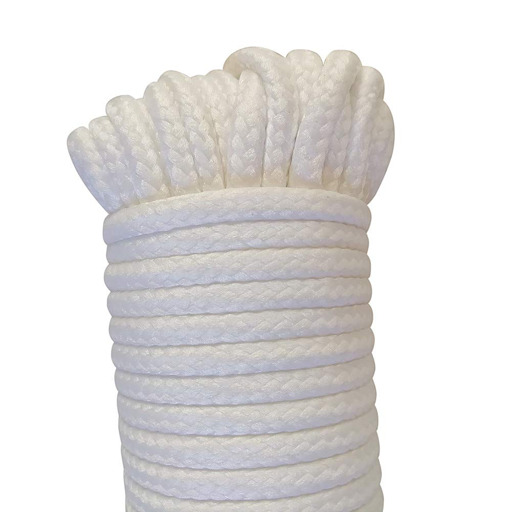 All-Purpose Rope for Laundry Line Dryer 3//16Inch X 40FT houert Nylon Clothesline Rope 1 Solid Rope
