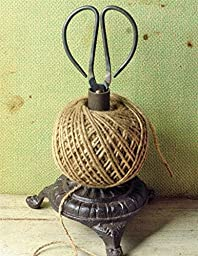 Antique Sturdy Twine Holder & Shears, Perfect Pair to Have for All your Recycling, Make the Job so Easy.