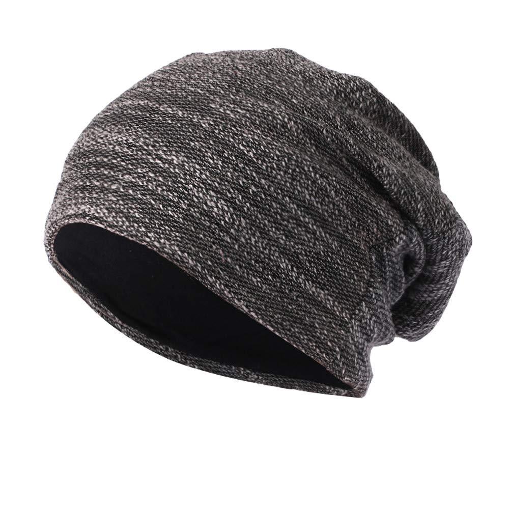 WUAI Clearance Deals,Mens Womens Knit Baggy Hats Warm Crochet Winter Wool Ski Beanie Casual Skull Caps (Black,Free Size)