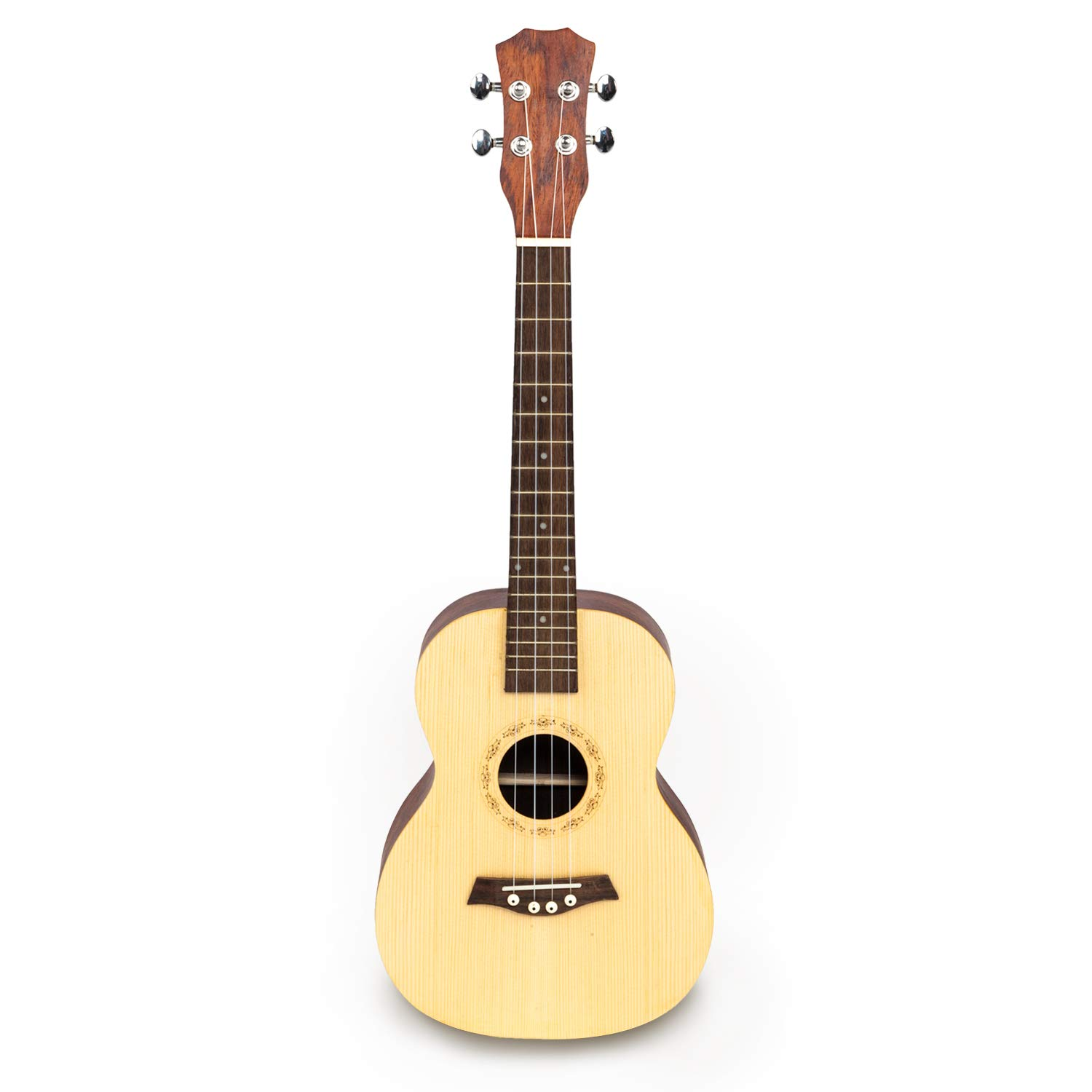 YORKMALL 26'' Tenor Spruce Front-panel with Cacao Pineapple Wood Back and Side Panel Ukulele Wood Color
