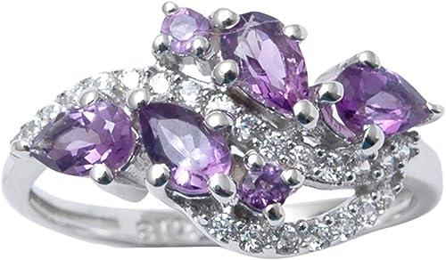 Banithani 9.25 Sterling Silver Gorgeous Rhodolite Garnet Stone Ring Fashion Women Jewelry