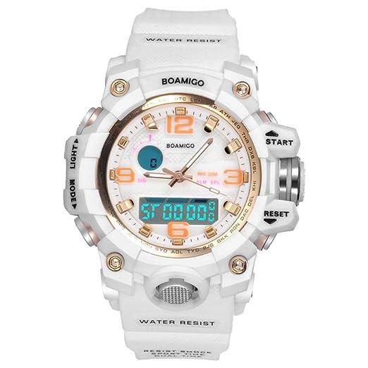 amstt Mujer Niña Reloj analógico digital reloj de pulsera reloj deportivo impermeable militar reloj dual Esfera