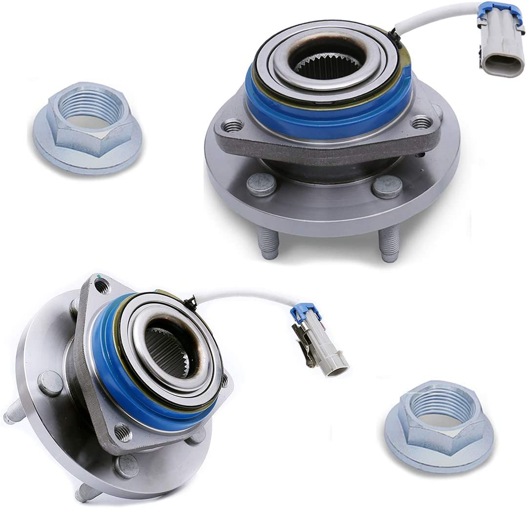 Bonnevile 5 Lugs with Nut W//ABS Set of 2 FKG 513121 Front Wheel Bearing Hub Assembly fit for Impala Lesabre Aurora Century Allure Seville