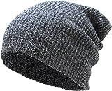 KBW-10 DGY Slouchy Beanie Baggy Style Skull Cap Winter Unisex Ski Hat