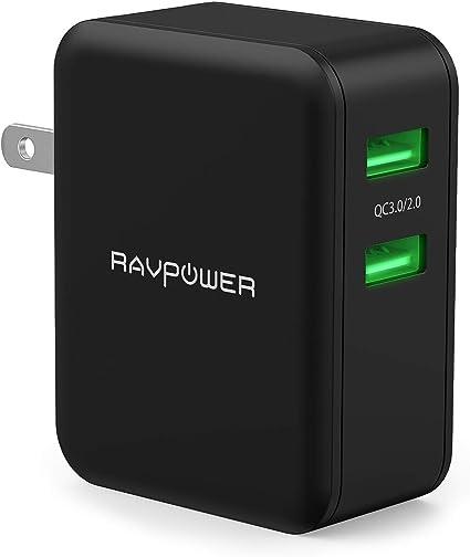 Amazon.com: RAVPower cargador de pared con USB doble, 30 W ...