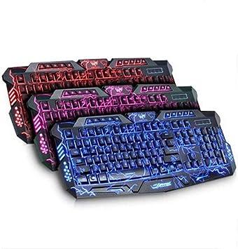 Burst Backlit Keyboard Teclado Retroiluminado Tricolor El ...