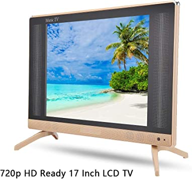 Televisor LCD de 17 Pulgadas Portátil de Alta definición 1366x768 Resolución HD TV LCD Portátil Fernseher Freenet TV Mini televisor Sonido de Graves, Compatible HDMI/USB/VGA/TV/AV(UE): Amazon.es: Electrónica