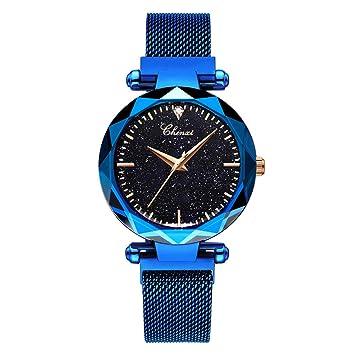 Hswt Reloj de Mujer Impermeable Ultra Delgado Correa de Malla La Moda Reloj de Cuarzo Transpirable