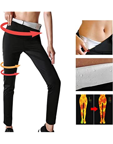 YILVV Womens-Pantalones para Adelgazar Hot Thermo Neopreno Sauna Body Shapers Pantalones