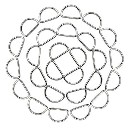Amazon Com Hysagtek 50x 1 Inch Metal D Ring Buckles For Dog Collars