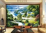 ZLJTYN 370cmX245cm 3d room photo wallpaper custom mural Silk cloth wall sticker Wood carving natural scenery painting TV setting wall 3d wallpaper