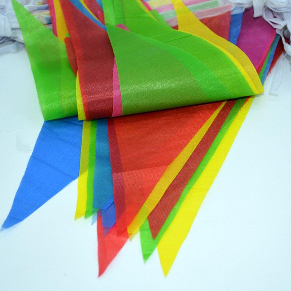 cumplea/ños eventos para bodas fiestas festivales o decoraci/ón de fiesta para interior y exterior celebraciones Banderines multicolores triangulares de doble cara de iTemer 40 cm 40m*12cm*17cm