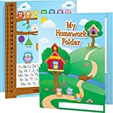 Really Good Stuff Owl Homework Folders, 9½' by 12' (Set of 12) - Laminated 2-Pocket Folders with Learning Tools - Pockets Labeled Keep It at Home and Bring It Back - Helps Students Organize Work