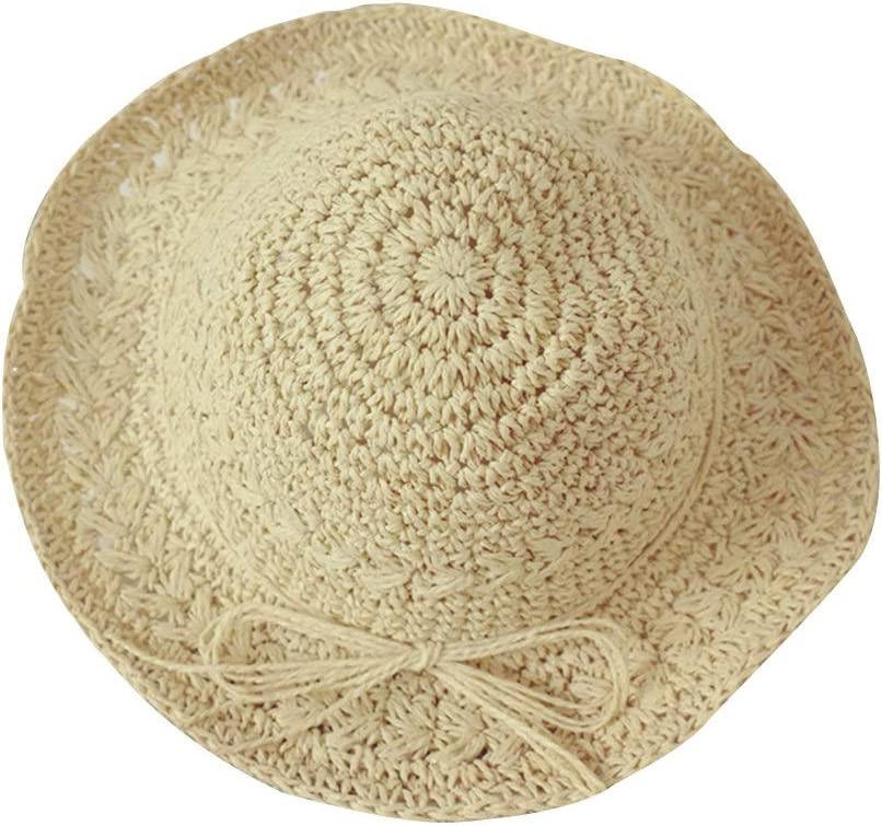 Cute Breathable Sunscreen Sun Hat Childrens hat Cool Cap Hand Knit Cap Color : Beige, Size : L Girl Beach Hat Teng Peng- Childrens Sun Hat Baby Summer
