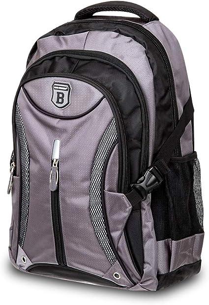 Elitar Rucksack Damen Herren Kinder Ergonomisch Backpack 30 Liter groß Organizer Handgepäck Daypack Grau