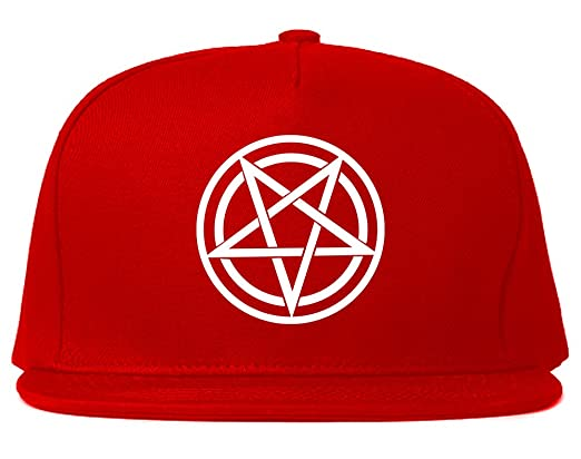 61164747 Pentagram Snapback Hat Cap Black at Amazon Men's Clothing store: