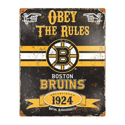 Embossed Animal (Party Animal NHL Embossed Metal Vintage Boston Bruins Sign)