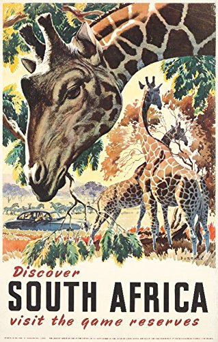 South Africa (artist: Burrage) Netherlands c. 1930 - Vintage Advertisement (12x18 Art Print, Wall Decor Travel Poster)