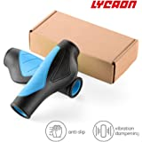 LYCAON Bike Grips, Bicycle Handlebar Grips with Solid & Extra-Thick Rubble, 5 Colour Options