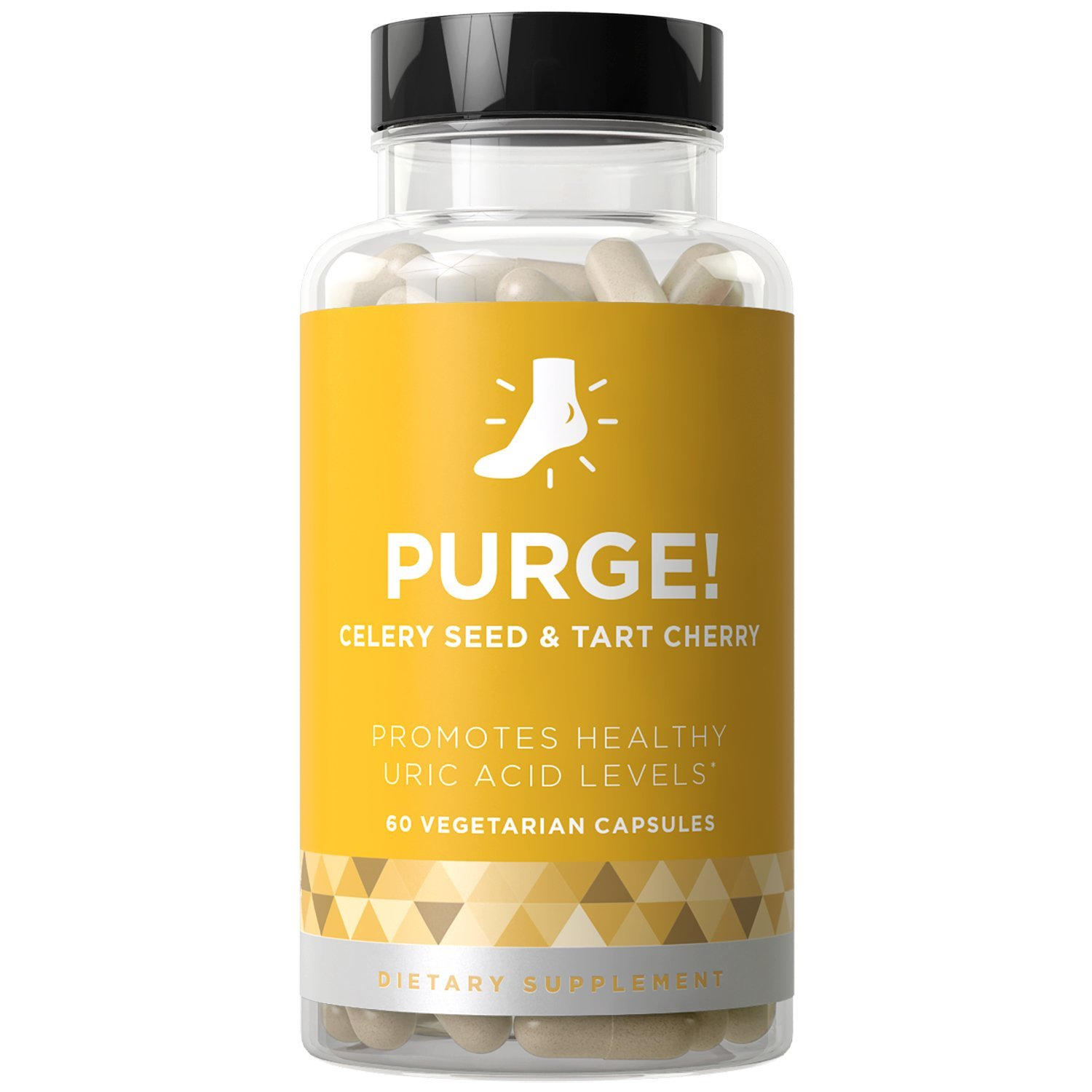 PURGE! Uric Acid Cleanse & Healthy Joint Support - Fast-acting Potency, Strong Flexibility, Lasting Mobility, Inflammation Protection - Celery Seed & Tart Cherry - 60 Vegetarian Soft Capsules