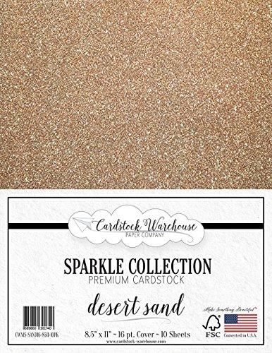 MirriSparkle Desert Sand Glitter Cardstock Paper from Cardstock Warehouse 8.5