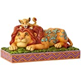 Enesco Disney Traditions by Jim Shore Lion King Simba and Mufasa Father's Pride Figurine, 4.41 Inch, Multicolor