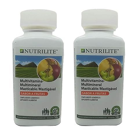 Pack 2 Multivitaminas / Minerales Masticable NUTRILITE Infantil-120/148 gr. comprimidos para