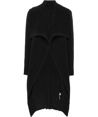 Thanny Mujeres chaqueta de cascada giacca plisado Negro