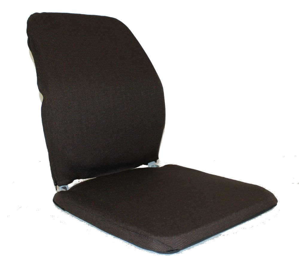 QBC McCarty's Sacro Ease Model BRSCMCF-Brown Memory Foam Lumbar Seat Support for Bad Backs in The car, Bus, Taxi, Boat, Airplane - Plus QBC Ergonomic Seating eBook