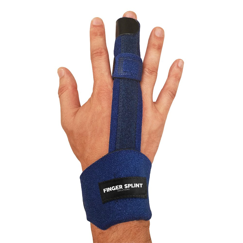 Finger Splint - Medical Grade with Aluminum Isolated Support for Trigger Finger, Sprains, Broken Fingers, Injuries, Strains, Mallet Finger, Pain Relief. Adjustable Extension Splint, Fits All Fingers