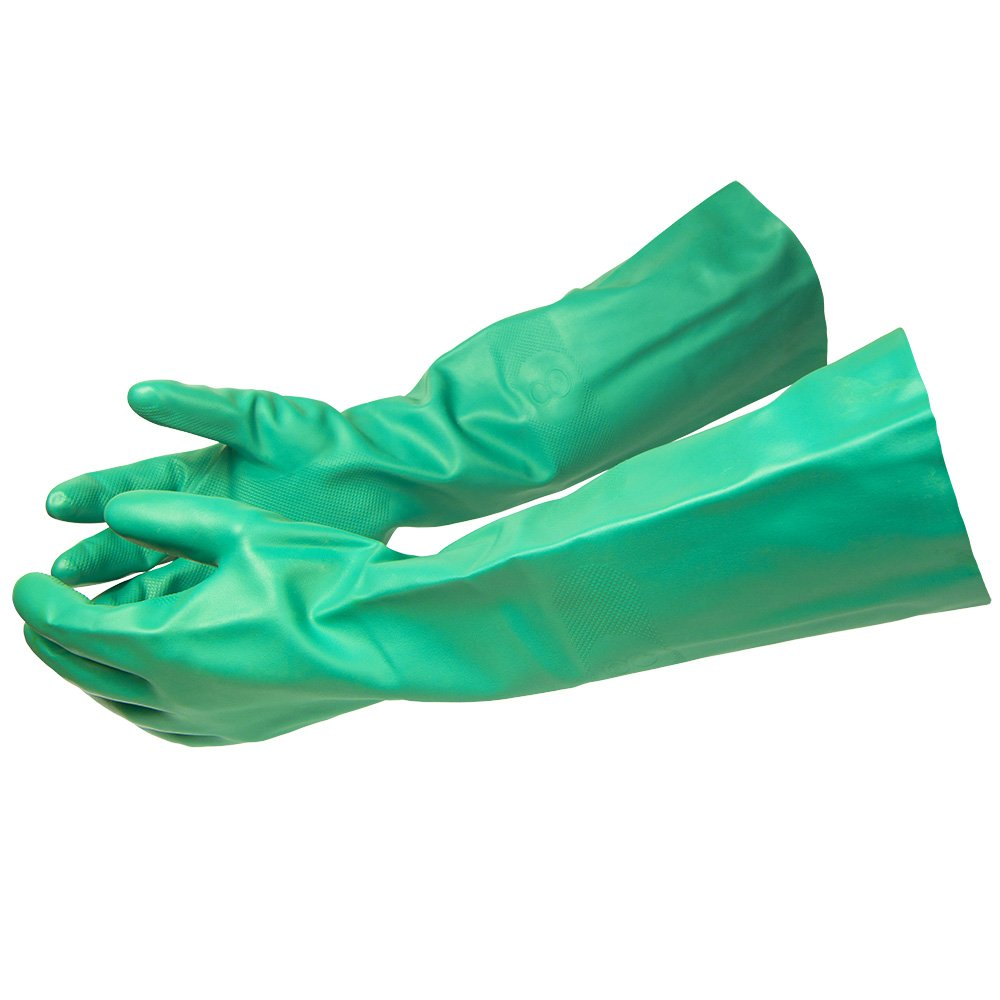 ThxToms 392°F Heat Resistant Rubber Gloves, Insulated and Waterproof Gloves for BBQ, Cooking, Dishwashing, Medium 1 Pair