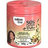 Máscara de Hidratação Intensa S.O.S Cachos + Brilho, 500g, Salon Line, Salon Line, 500g
