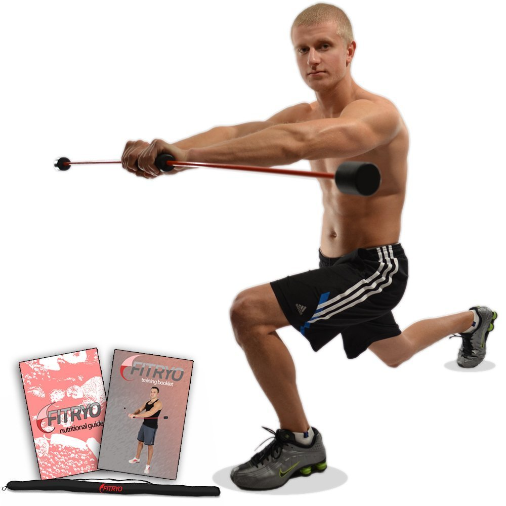 Total Bar | Exercise Bar and Shoulder Rehabilitation Equipment | Includes Carrying Case, Nutrition Booklet, and Workout Booklet by Fitryo