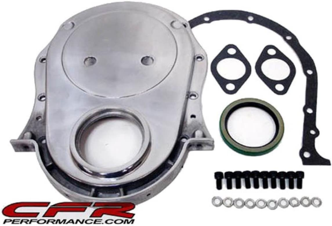 Polished Compatible//Replacement for Chevy Big Block 396-402-427-454 Aluminum Timing Chain Cover Set