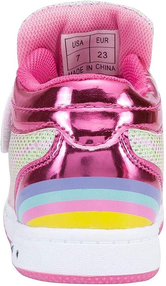 YILAN Toddler Glitter Shoes Girls Flashing Sneakers with Cute Bowknot