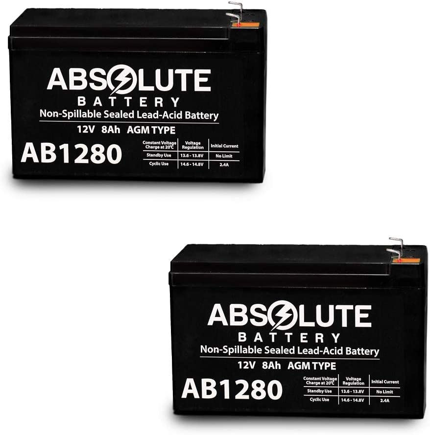 2 Pack 12V 8AH Battery Replacement for APC Smart-UPS 2000 SURT2000XLI